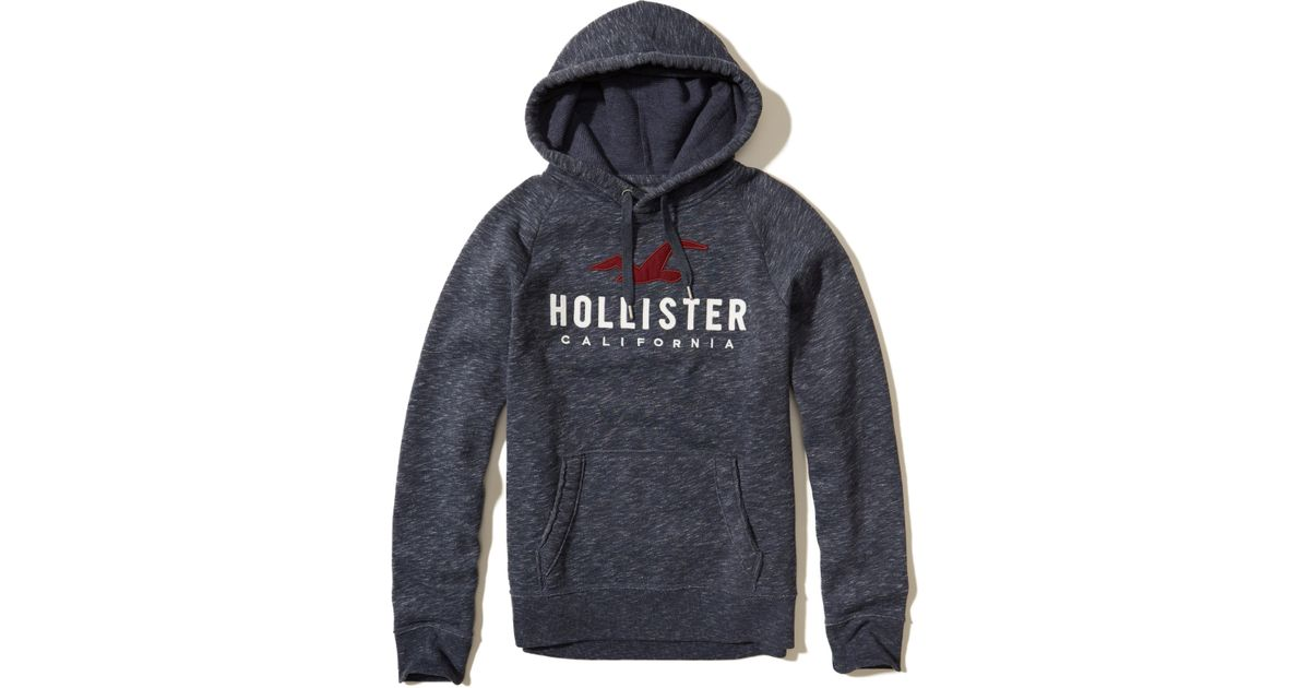 new style 1431c 82b54 ... Lyst - Hollister Logo Graphic Hoodie in Blue for Men ...