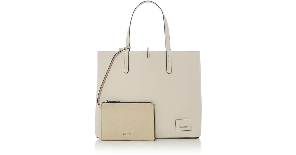 Calvin Klein 205W39Nyc Reversible Shopper Tote Bag in Natural - Lyst 9b0e9a28bd4f2