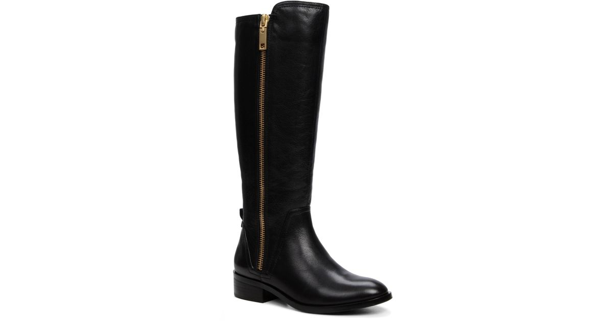 aldo mihaela flat knee high boots in black lyst