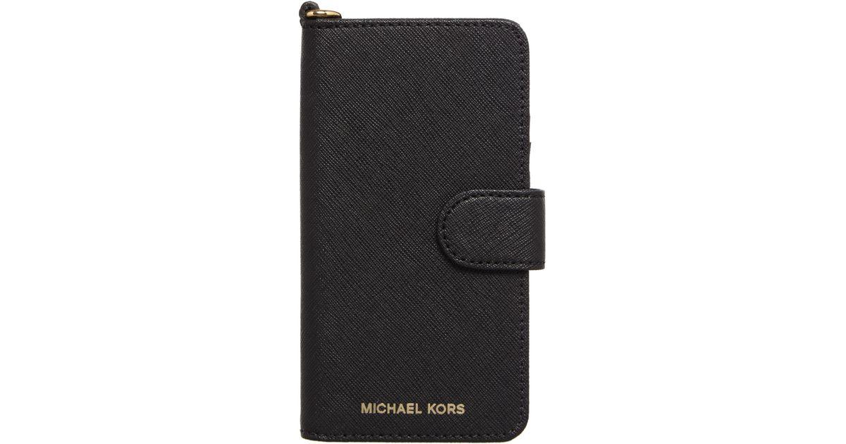 michael kors black iphone 7 phone cover in black lyst. Black Bedroom Furniture Sets. Home Design Ideas