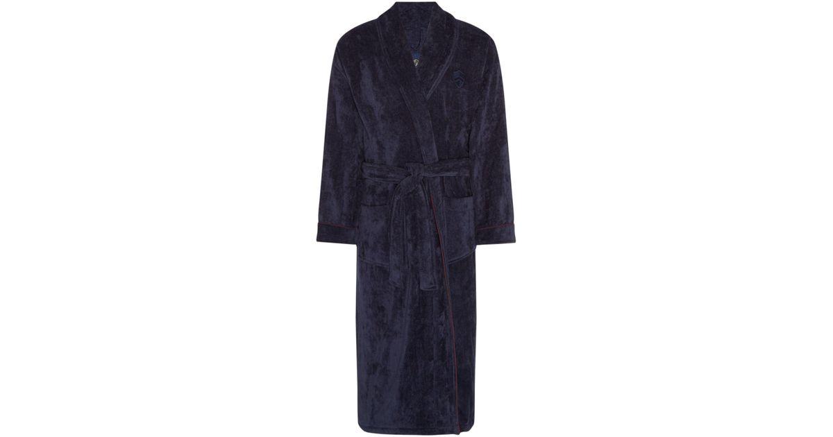 Howick Men\'s Towelling Dressing Gown in Blue - Lyst