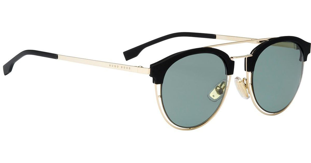 87fe9cad8a9 BOSS Gold-coloured Sunglasses With Rubberised Trim    0784 s  in Metallic  for Men - Lyst