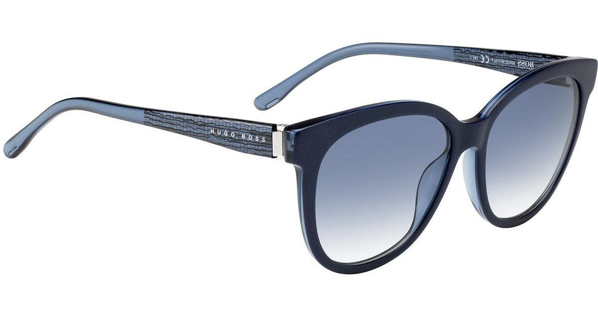 Boss Sunglasses With Fully-rimmed Frames And Transparent Temples ...