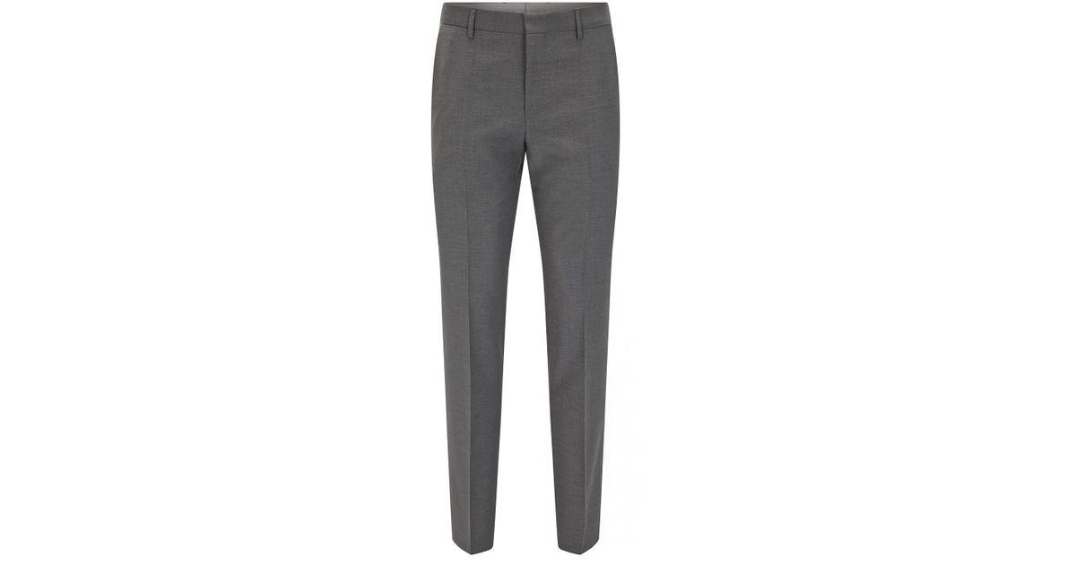 e6072774e2cb Lyst - BOSS 'balte' | Slim Fit, Virgin Wool Dress Pant in Gray for Men