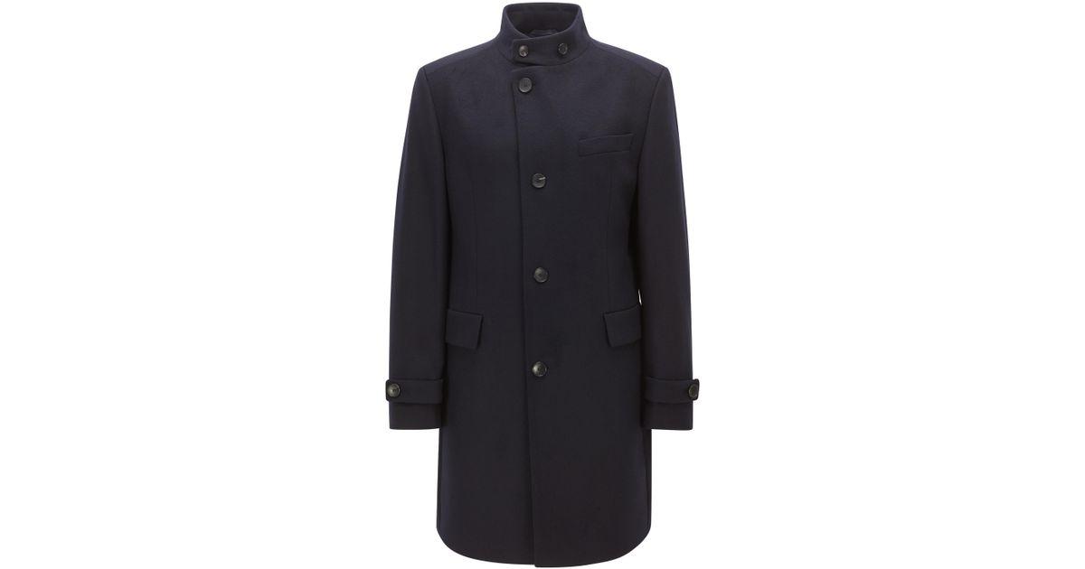 922cc456365a Lyst - BOSS Virgin Wool Cashmere Coat