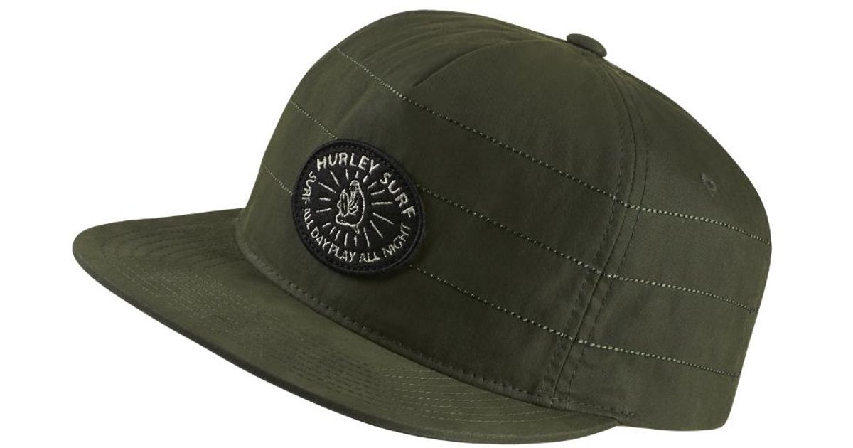 a085670998e34 clearance hurley surf pack hat black cc17d f2382  where to buy lyst hurley  surf all day adjustable hat olive in green for men 54331