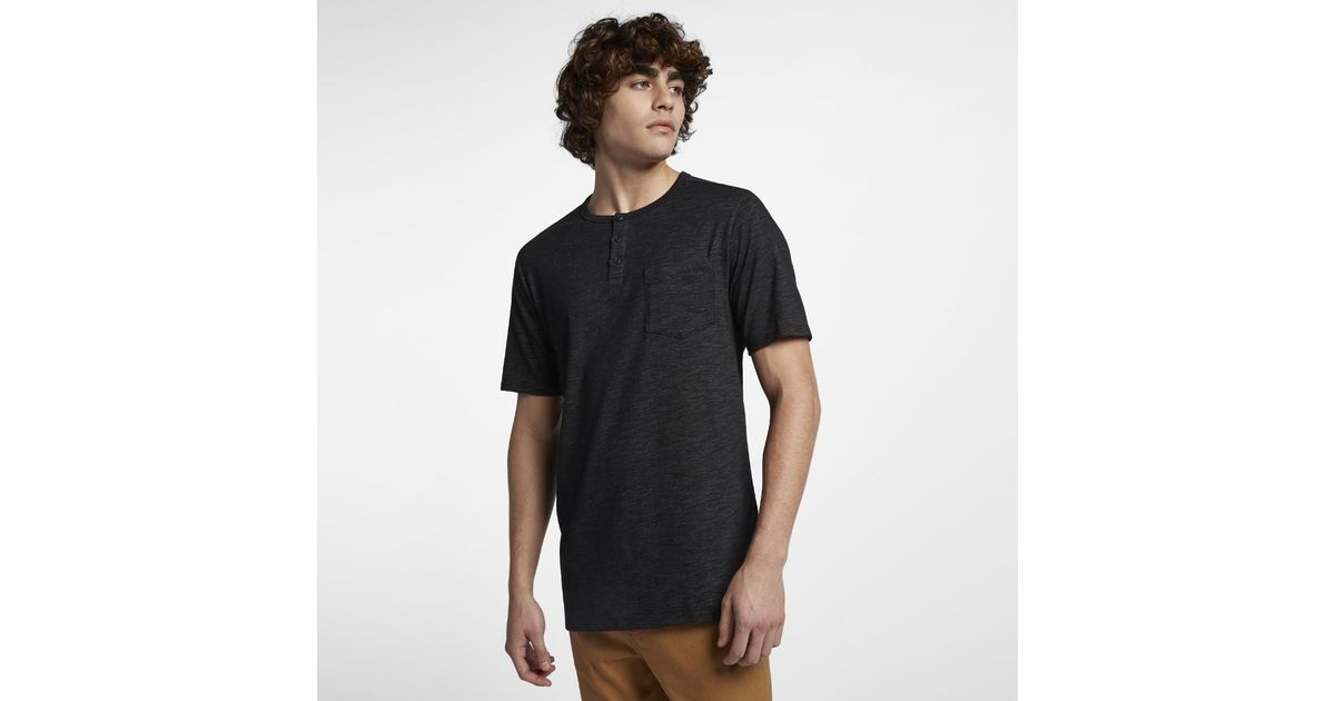 7ac8a521f89ee Lyst - Hurley Dri-fit Lagos Henley Shirt in Black for Men