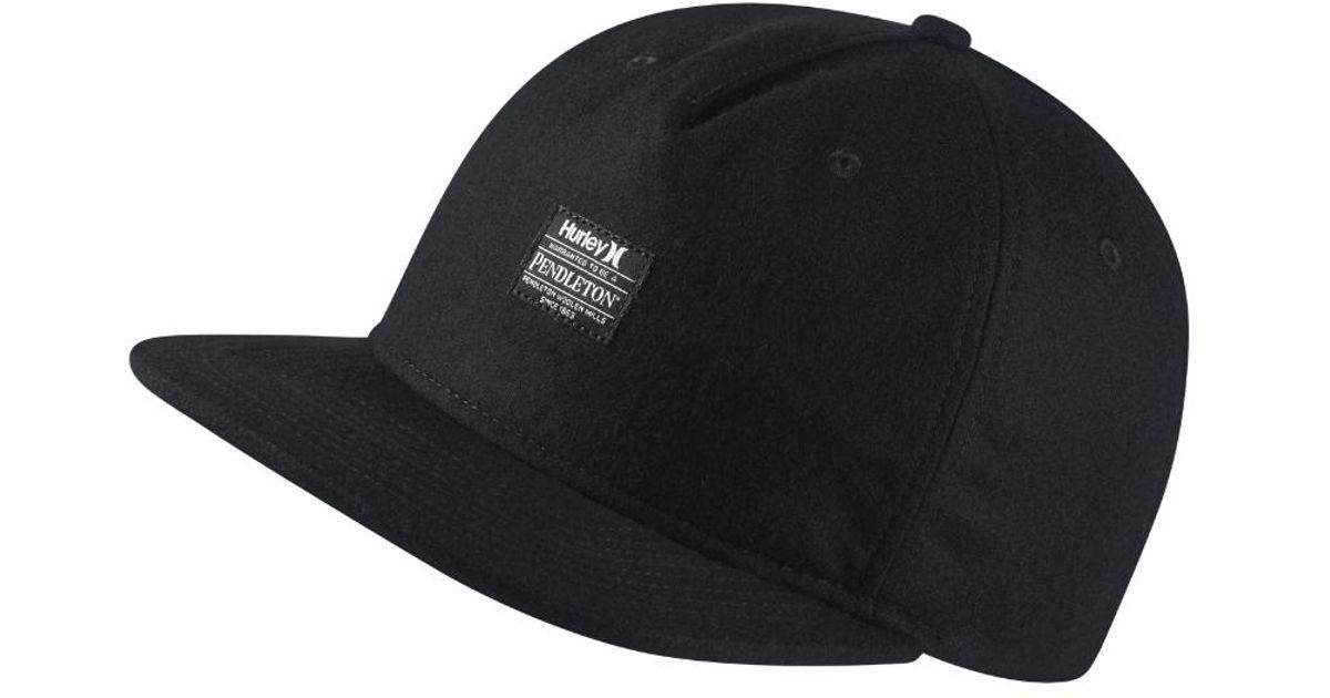 bf67fa8433f Lyst - Hurley Pendleton Adjustable Hat (black) in Black for Men