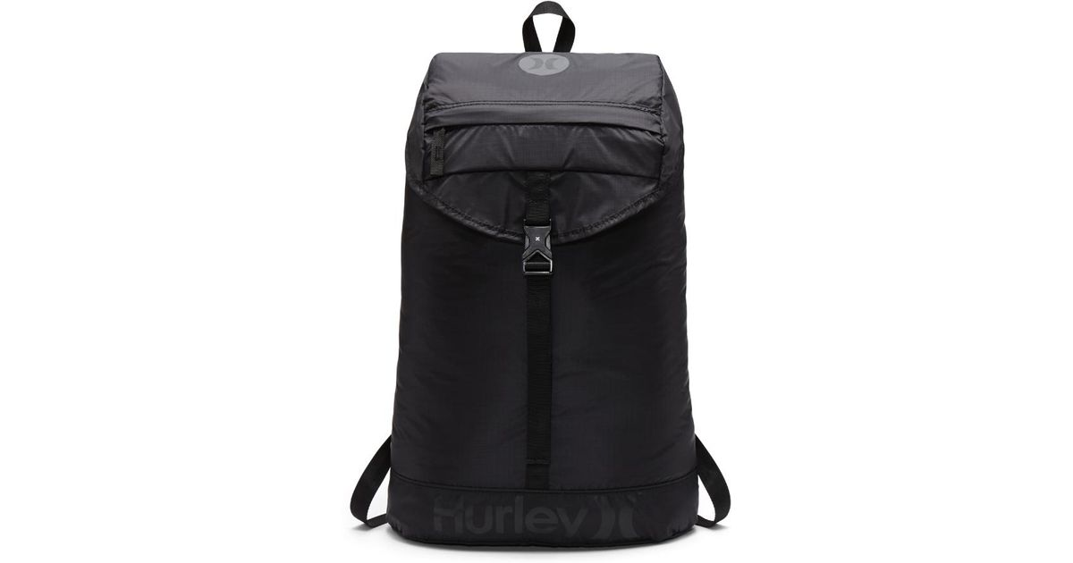 Lyst - Hurley Renegade Packable Backpack (black) - Clearance Sale in Black f53af1a1e56ec