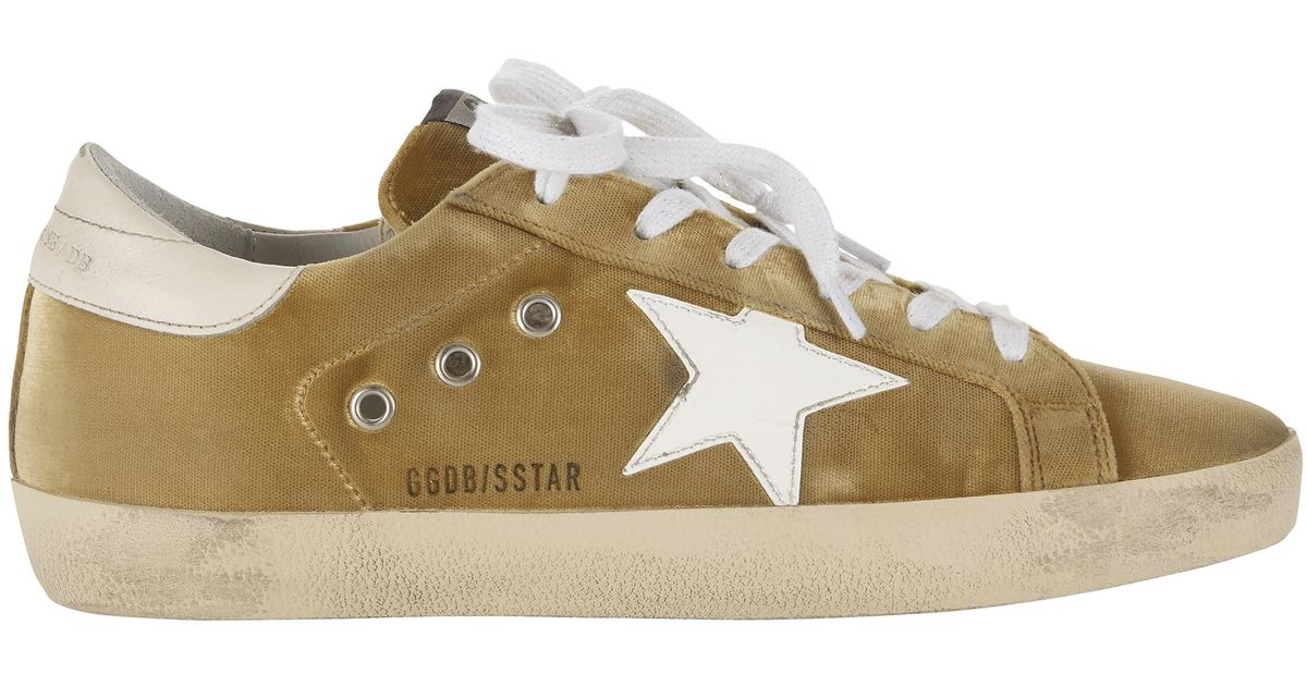 4b26b799c24 Velvet Dark Goose In Sneakers Brand Deluxe Superstar Yellow Lyst Golden  wXq0zz