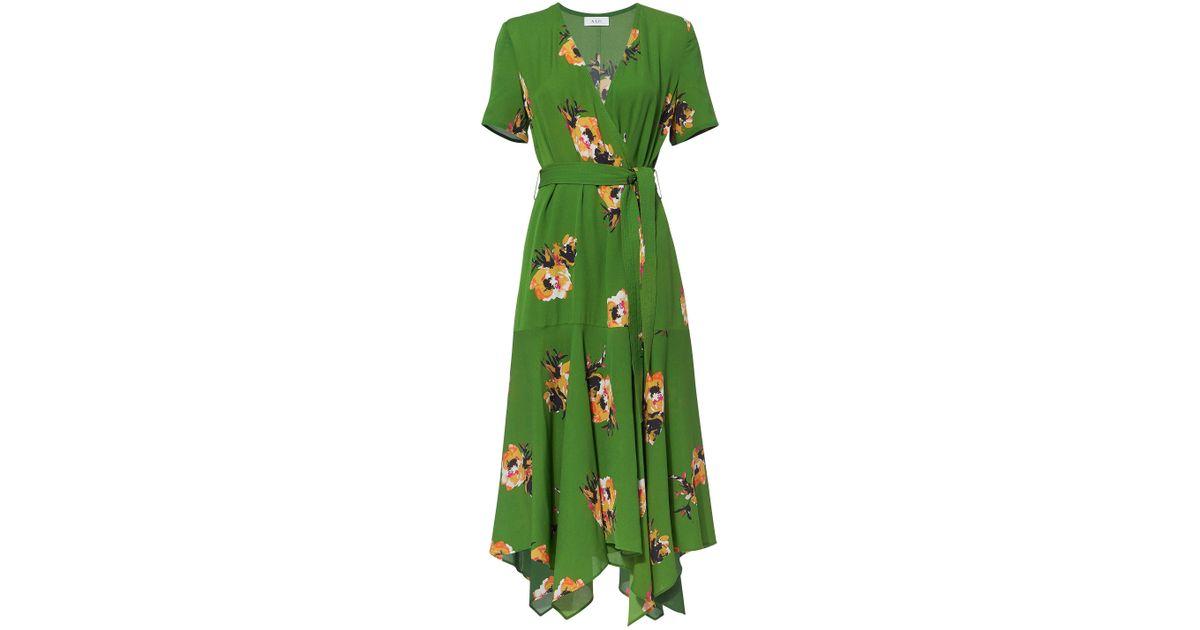8d708703e4a7 Lyst - A.L.C. Cora Floral Wrap Dress in Green