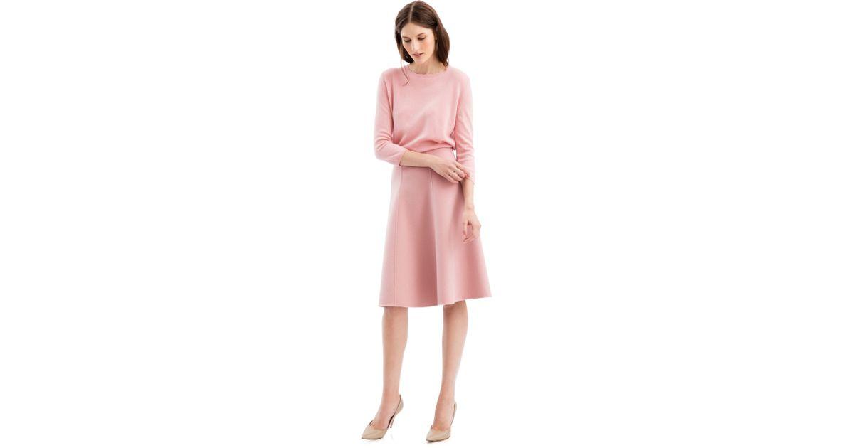 iris von arnim pullover minto mit fransen in pink lyst. Black Bedroom Furniture Sets. Home Design Ideas