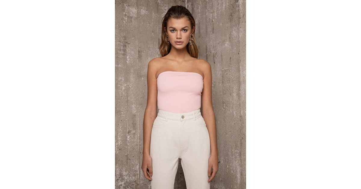 40ed8433d7 Lyst - Ivyrevel Tube Top Light Pink in Pink