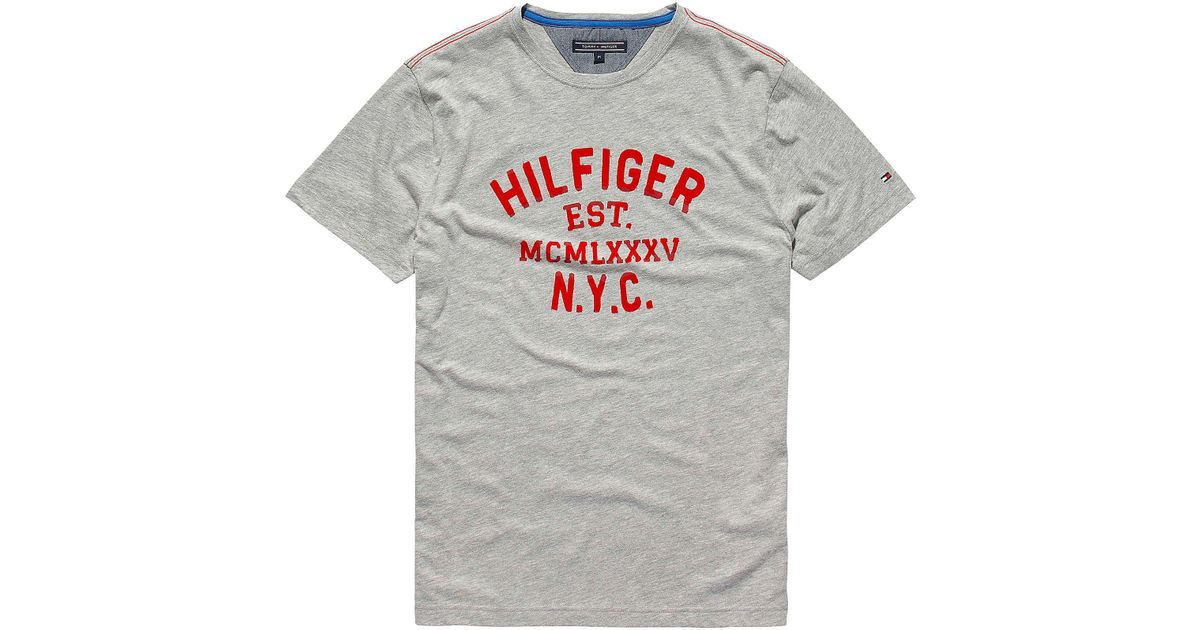 430eb3ff Tommy Hilfiger Mighty Logo T Shirt in Gray for Men - Lyst