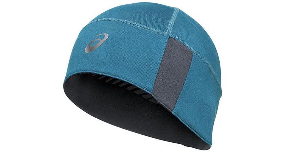 Lyst - Asics Thermopolis Lt 2-n-1 Beanie in Blue for Men af789dc63dad