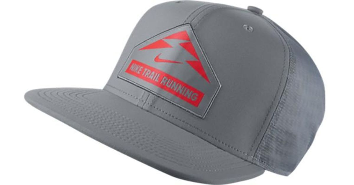 d271370aeaf Lyst - Nike Trail Run Trucker Hat in Gray for Men