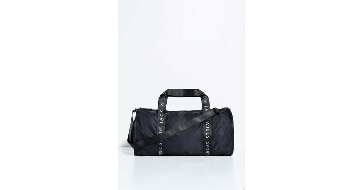 b897d423b2 Jack Wills Raven Gym Bag In Black For Men Lyst