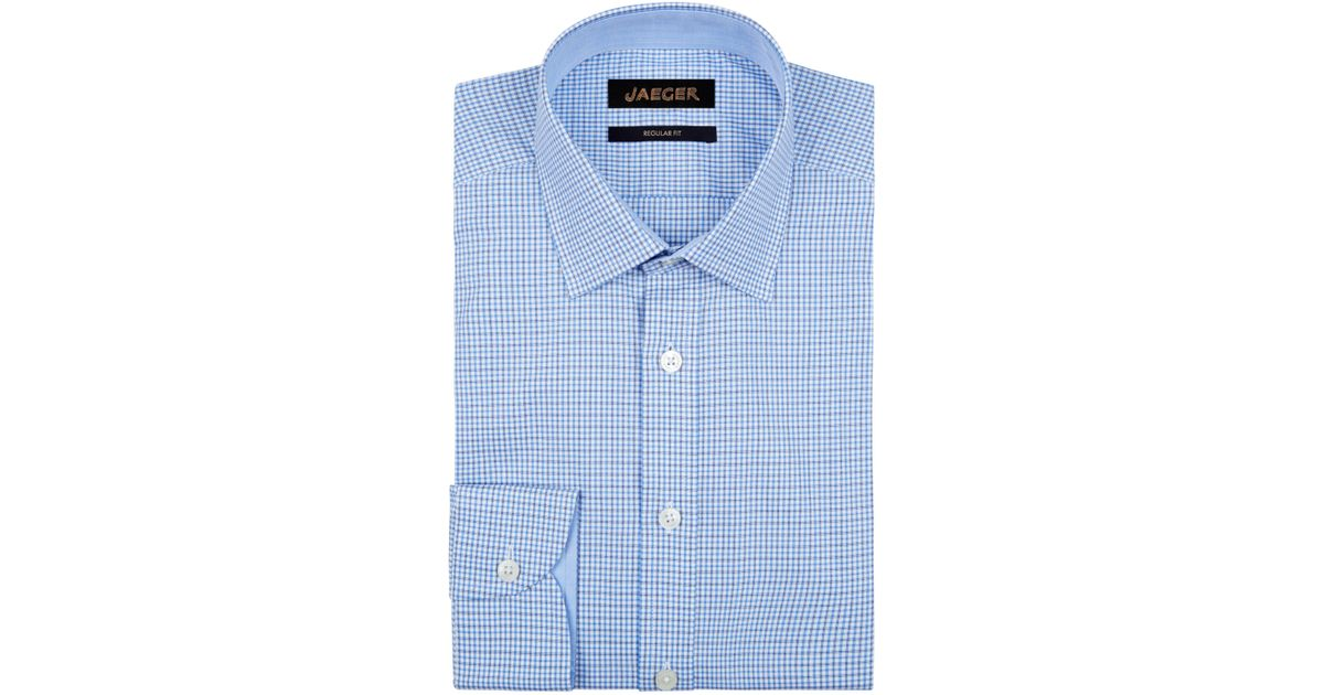 Cheap Discounts Mens Regular Micro Gingham Non Iron Business Shirt Jaeger Fashion Style Outlet Best Place Nh1d9ECEES