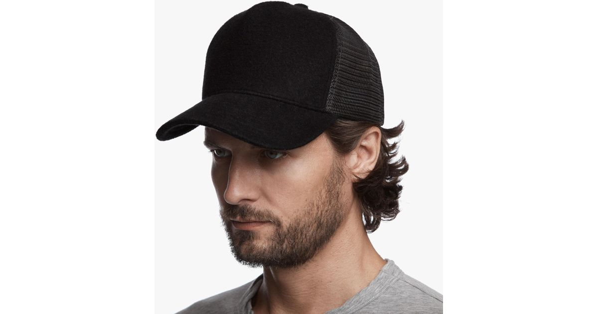 Lyst - James Perse Terry Trucker Hat in Black for Men b7357da4c0f