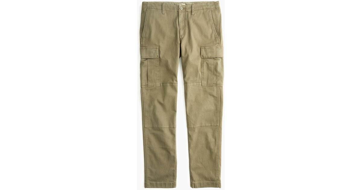 1606e785a9 J.Crew 770 Straight-fit Stretch Cargo Pant In Garment-dyed Herringbone in  Green for Men - Lyst
