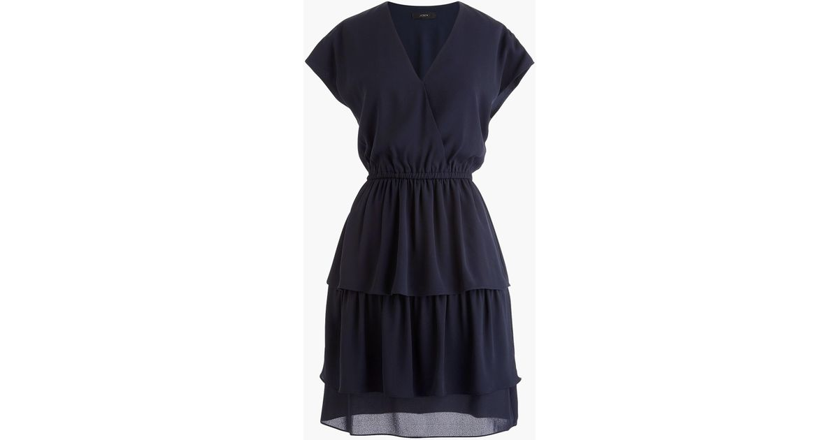 48566e844b83 J.Crew Point Sur Tiered Ruffle Mini Dress in Blue - Lyst