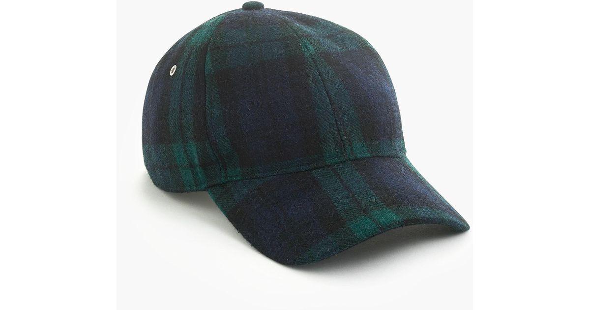 48b598b8e9263 Lyst - J.Crew Melton Wool Ball Cap in Blue for Men