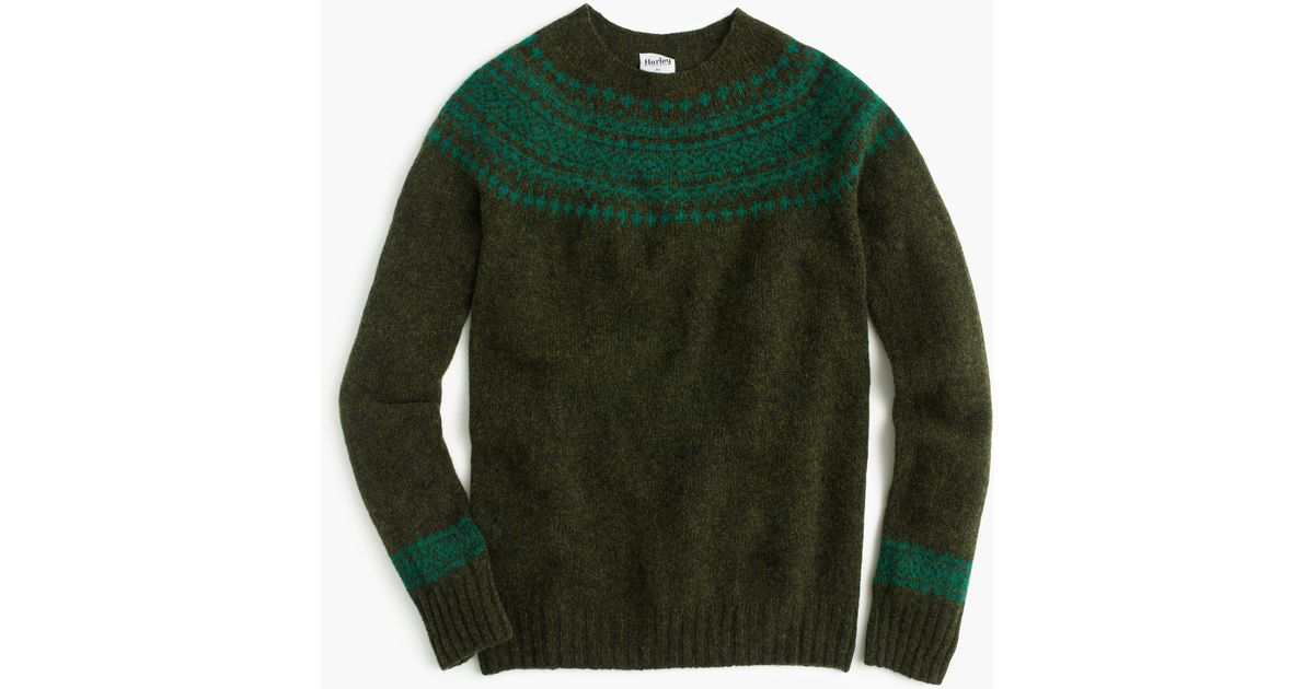 Lyst - J.Crew Harley Of Scotland Nor easterly Sweater in Green for Men a73079977