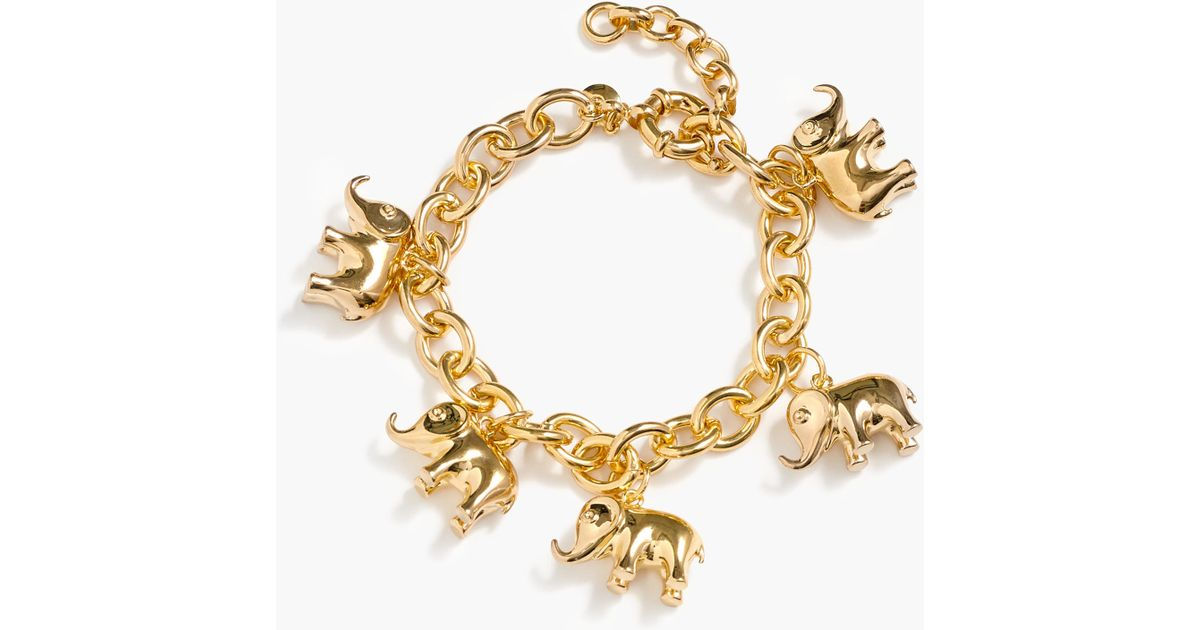 bracelet groupon deals accent diamond white elephant plating gold in gg latest