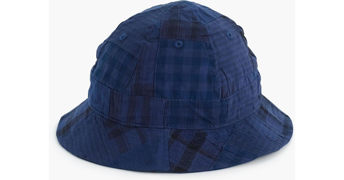 ce3604a9d2d60 Lyst - J.Crew Bucket Hat In Patchwork Madras in Blue for Men