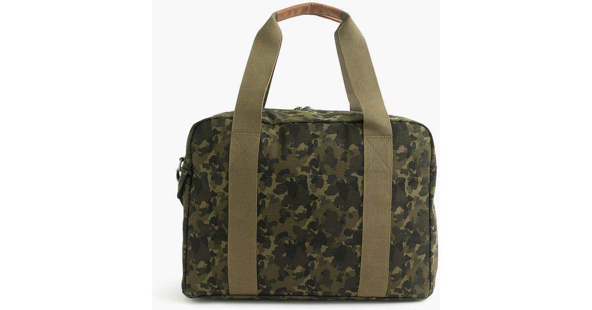 767301ecebdd Lyst - Eastpak Deve L Opgrade Camo Gym Bag in Green for Men