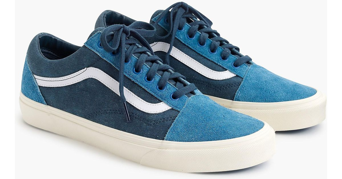 f9b1d7e858e4f Lyst - Vans Old Skool Sneakers In Washed Canvas in Blue for Men