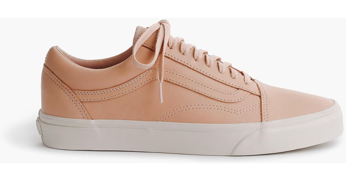 Lyst - J.Crew Vans Old Skool Dx Sneakers In Leather in Natural c92b37b7db