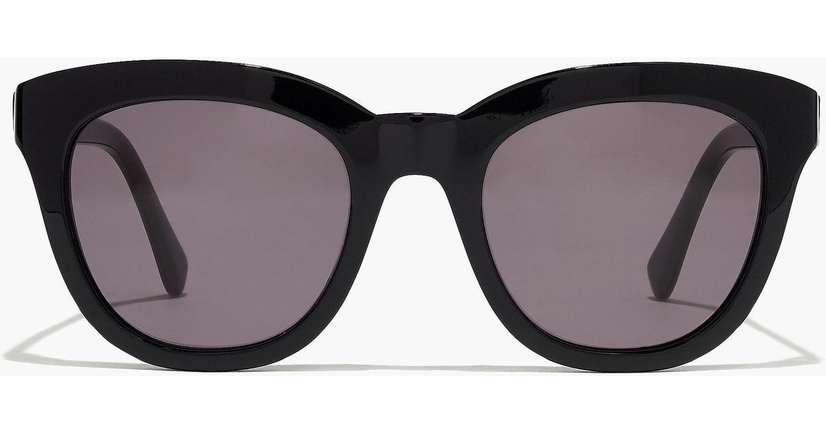 bb3f71c2f3 J.Crew Cabana Oversized Sunglasses in Black - Lyst