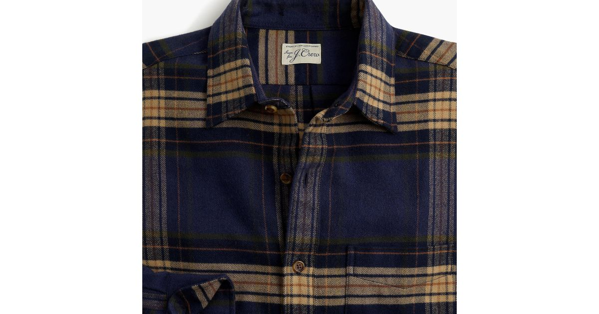 c033b0903457 Lyst - J.Crew Slim Brushed Midweight Flannel Shirt In Gail Plaid in Blue  for Men - Save 81%