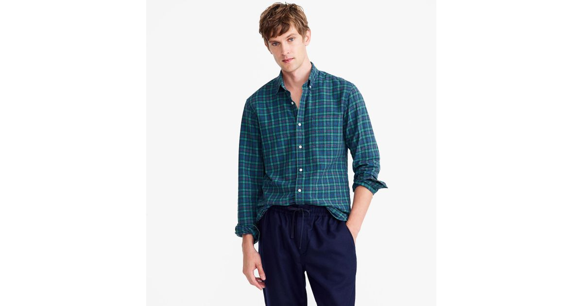 Lyst J Crew American Pima Cotton Oxford Shirt In Tartan