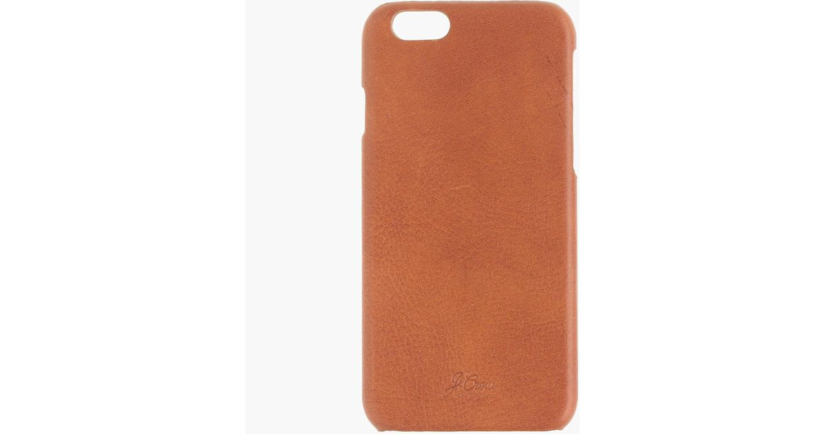 best sneakers ae9d0 9f654 J.Crew - Brown Leather Case For Iphone 6/6s for Men - Lyst