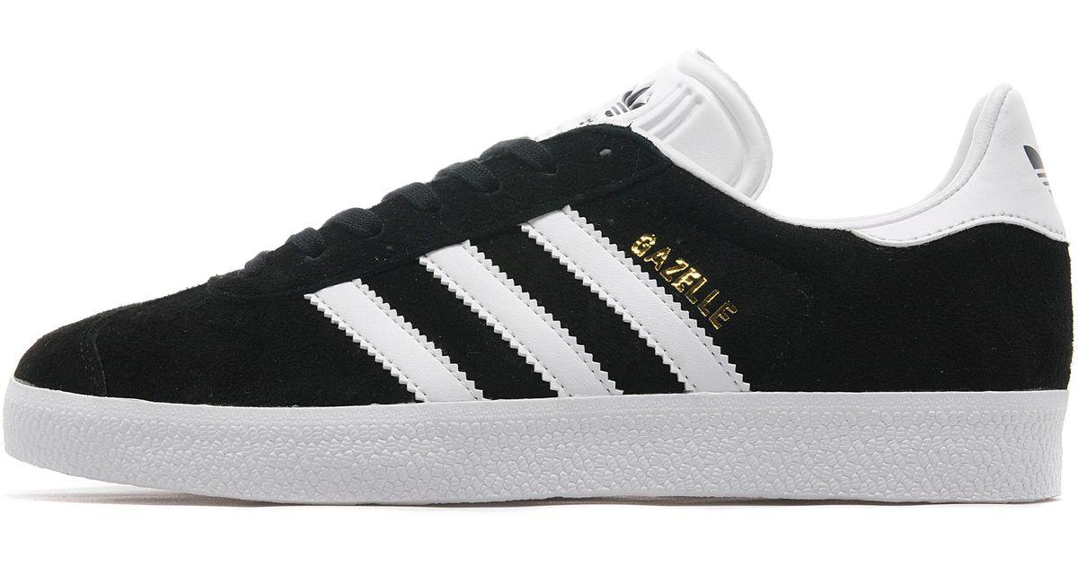 d821f7060f Lyst - adidas Gazelle Original Suede Sneakers Black white in Black - Save  38%