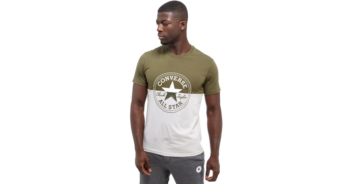 aba7196cc955 ... great look adb81 8c486 Lyst - Converse Chuck Patch T-shirt in Green for  Men ...