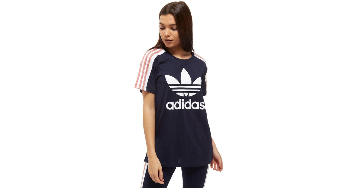 43f709b94f8 In T 3 Stripes Originals Lyst Panel Shirt Adidas Blue z6qHY