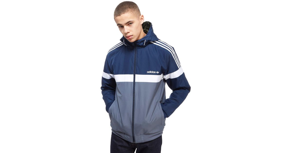 Lyst Adidas Originals Itasca Reversible Jacket In Blue For Men