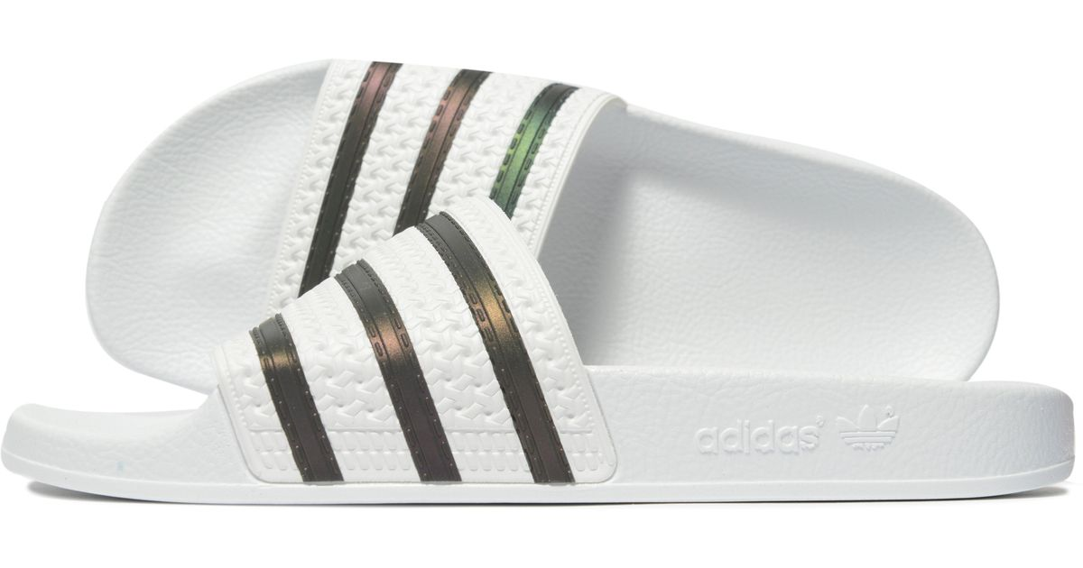 d600061431c adidas Originals Adilette Slides in White for Men - Lyst