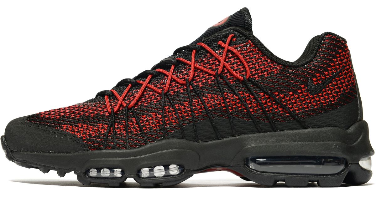 online retailer 2b1a7 0cc0c ... sale lyst nike air max 95 ultra jacquard in red for men 620b3 0ebd6