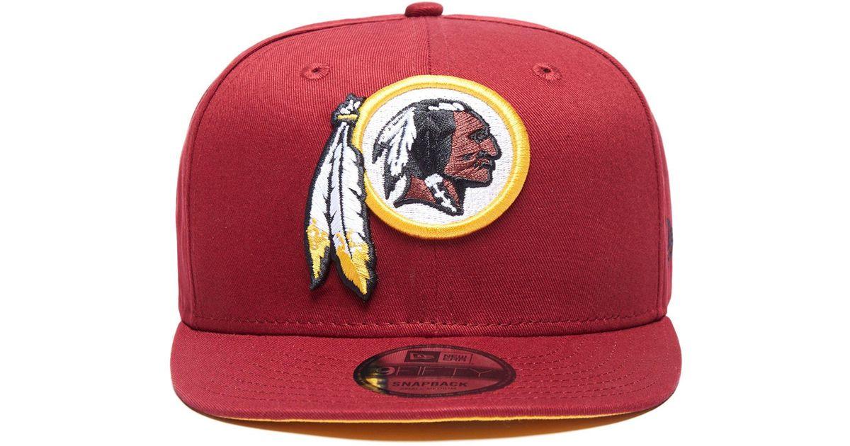 bb4828228ae169 ... sale lyst ktz nfl washington redskins snapback cap in red for men bedf6  3e668