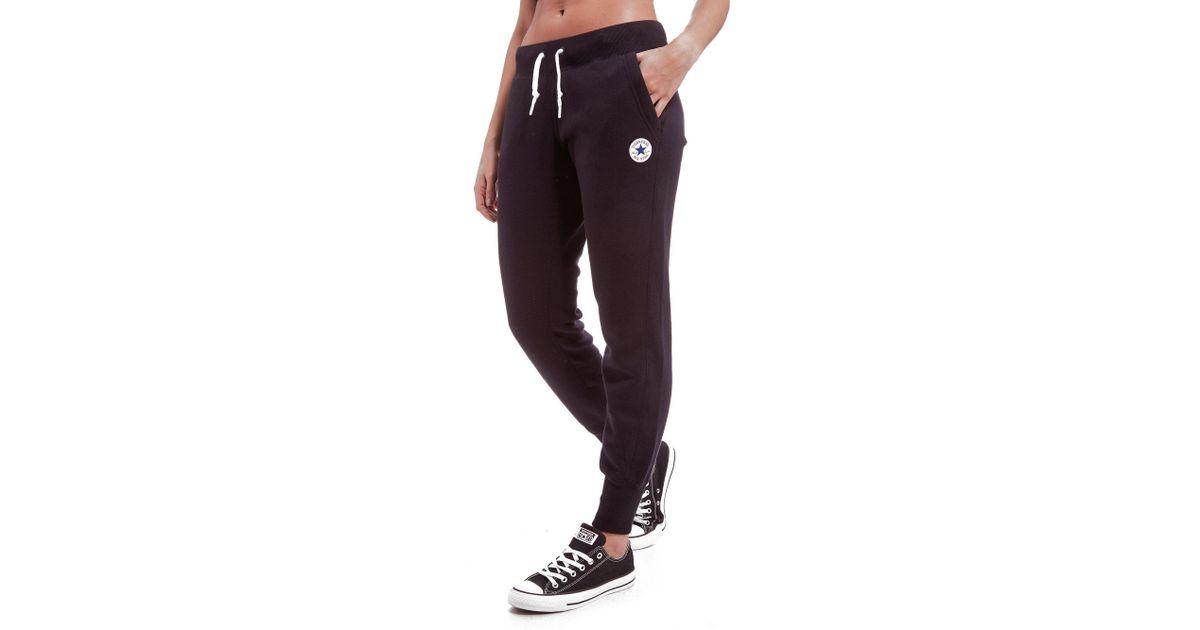 814c105908f9 Lyst - Converse Chuck Fleece Pants in Black
