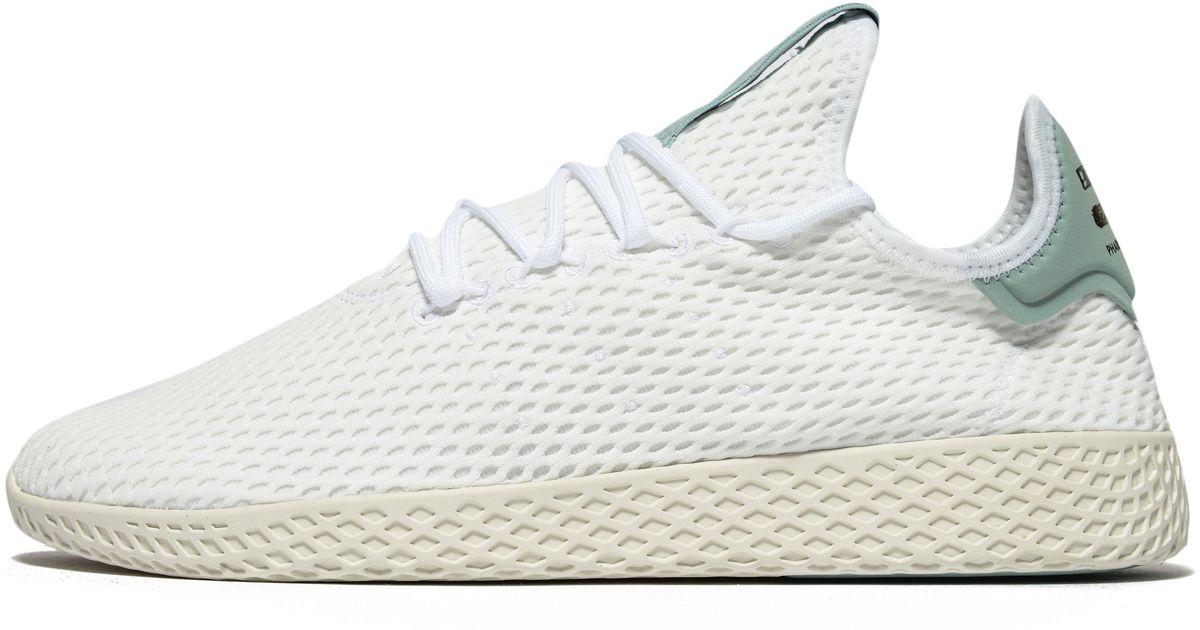 lyst adidas originali pharrell williams tennis hu in bianco.