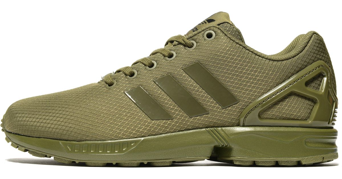 044e543e1 adidas Originals Zx Flux Ripstop in Green for Men - Lyst