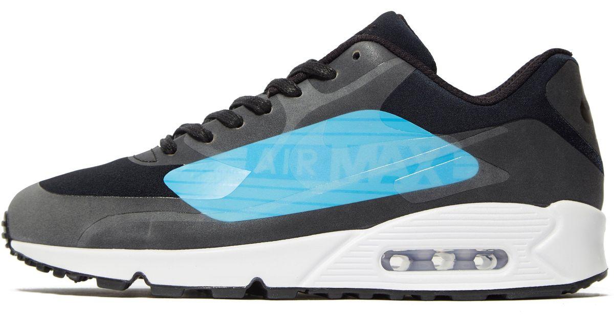 the latest 8bdce c6721 Nike - Black Air Max 90 Big Logo for Men - Lyst
