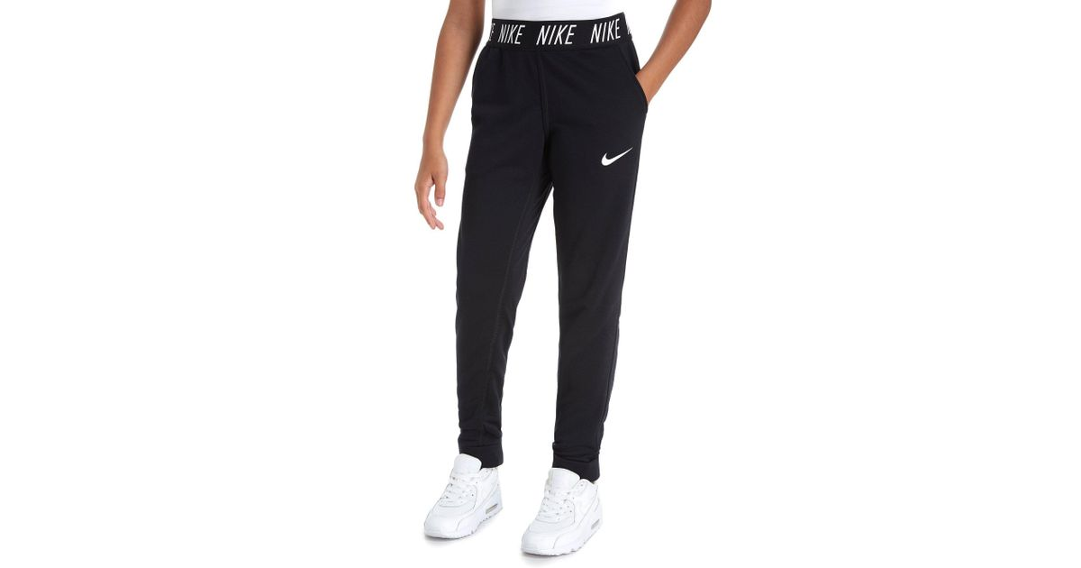 e88d69ac4e7 Nike Girls' Studio Track Pants Junior in Black - Lyst