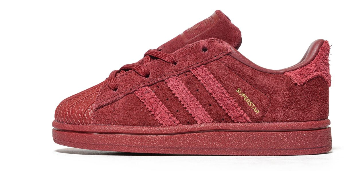 Lyst Adidas Originals Superstar Infant In Red For Men