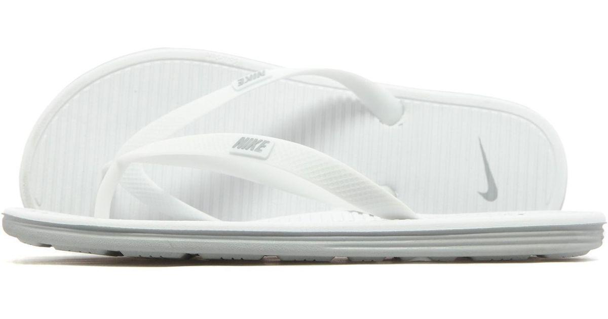 e97d86c4feeb53 Nike Solarsoft Ii Flipflops in White for Men - Lyst